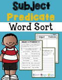 Subject Predicate Sort