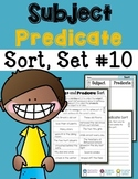 Subject Predicate Sort Set 10
