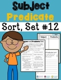 Subject Predicate Sort Set 12