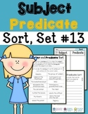 Subject Predicate Sort Set 13