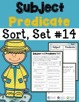 Subject Predicate Sort Set 14