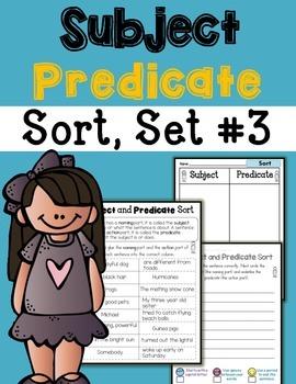 Subject Predicate Sort Set 3