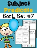 Subject Predicate Sort Set 7