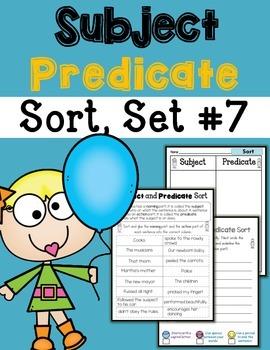 Subject Predicate Sort Set 7