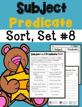 Subject Predicate Sort Set 8