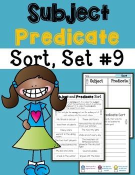 Subject Predicate Sort Set 9