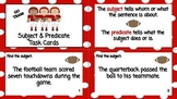 Subject & Predicate Task Cards Pack-Football theme
