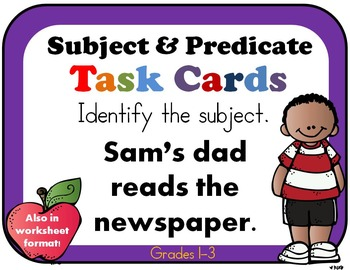 Subject predicate 2nd grade by rock paper scissors tpt subject predicate 2nd grade ibookread ePUb