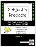 QR Codes - Subject & Predicate Task Cards