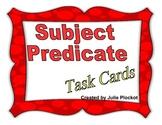Subject Predicate Task Cards