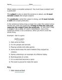 Subject-Predicate Worksheet