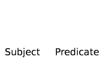 Subject Predicate flip book