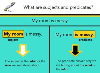 Subject & Predicate for the Smartboard