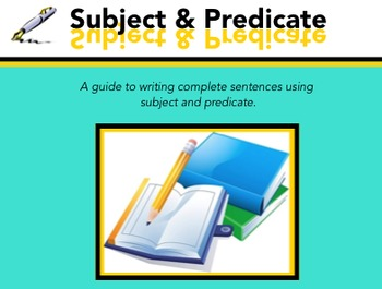 Subject & Predicate for the Smartboard