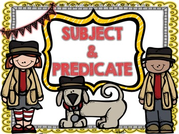 Subject & Predicate:Third Grade Common Core!