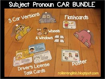 Subject Pronouns Cars Mega Bundle