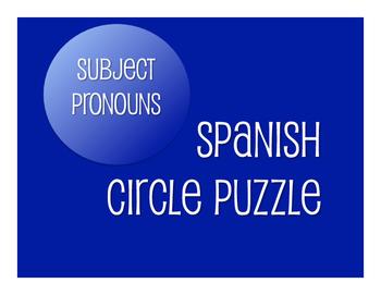 Spanish Subject Pronoun Circle Puzzle