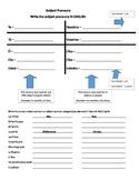 Subject Pronoun & Conjugating Review/Teach