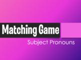 Spanish Subject Pronoun Matching Game