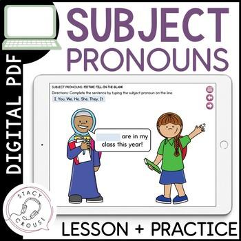 Subject Pronoun Practice: No Print Required