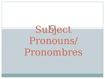 Subject Pronoun Power Point