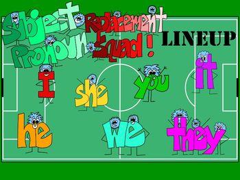 Subject Pronoun Replacement Squad -- A FUN SmartBoard Lesson to Teach Pronouns!