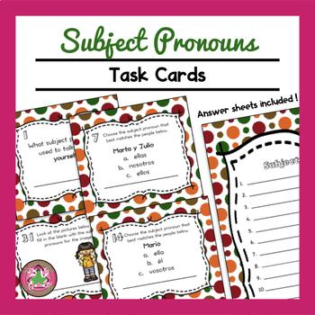Subject Pronoun Task Cards