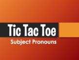 Spanish Subject Pronoun Tic Tac Toe Partner Game