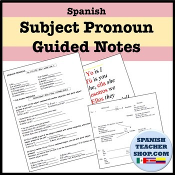 Subject Pronoun Unit