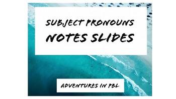 Subject Pronoun practice
