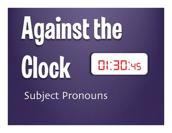Spanish Subject Pronoun Against the Clock