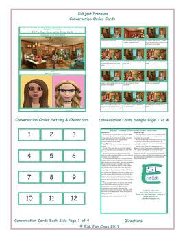 Subject Pronouns Conversation Order Cards