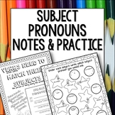 Subject Pronouns Doodle Pages Worksheets Notes Spanish