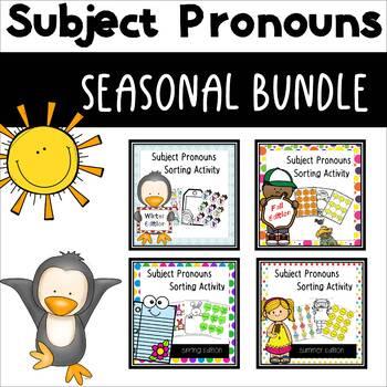 Subject Pronouns ESL Seasonal BUNDLE