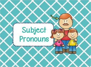 Subject Pronouns Flashcards (w/ Boardgames and Worksheet)