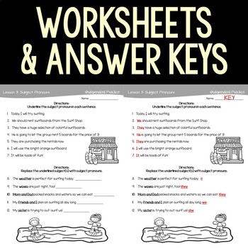 Subject Pronouns Interactive Notebook and Activities