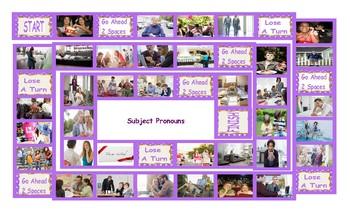 Subject Pronouns Legal Size Photo Board Game