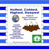 Subject Pronouns, Object Pronouns- Hottest, Coldest, Highest, Deepest