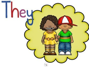 Subject Pronouns Posters:  he, she, they.