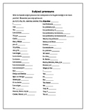 Subject Pronouns Practice (Spanish 1)