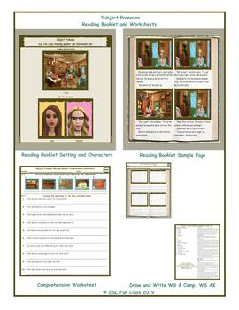 Subject Pronouns Reading Booklet and Worksheet