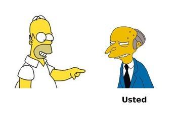 Subject Pronouns, Simpsons