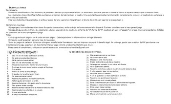 Subject Pronouns Spanish Legal Size Photo Tic-Tac-Toe-Bingo Game