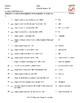Subject Pronouns Spanish Matching Exam