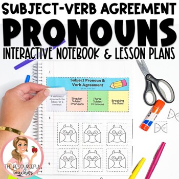 Subject Pronouns Verb Agreement Interactive Notebook and Activities