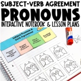 Subject Pronouns Verb Agreement Interactive Notebook and A