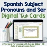 Spanish Subject Pronouns and Ser Digital Task Cards for Google Drive™