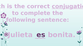 Subject Pronouns and the verb ser