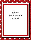 Subject Pronouns for Spanish