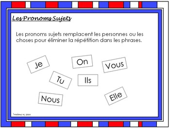 Subject Pronouns in French